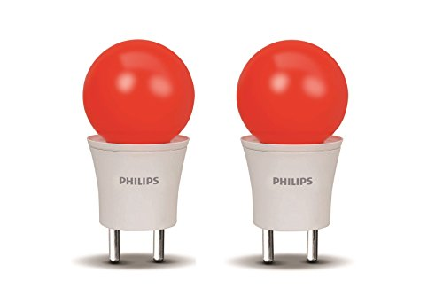 Philips 0.5W Joy Vision Pearl Candy LED Bulb (Red, Pack Of 2)