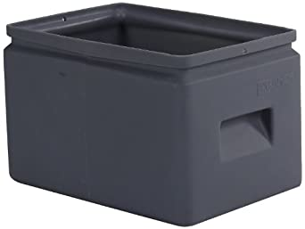 "Forte 8001263 All Purpose Bin, 14.5"" L x 9.5"" W x 9"" H, Grey (Case of 12)"