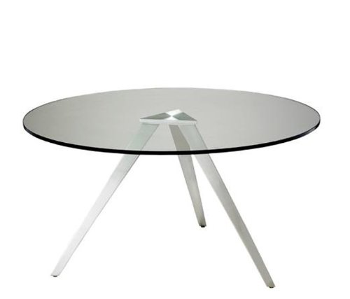Adesso WK2336-22 Juneau Coffee Table, Satin Steel Finish