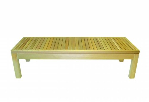 "Rectangle Western Red Cedar Coffee Table Size: 47.25"", Finish: Natural"