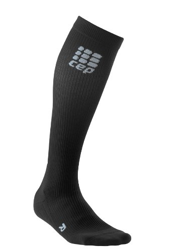 CEP Women's Compression Walking Socks (Black, 15.25 - 17.5- Inch)
