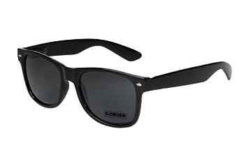 Nerd Sonnenbrille Wayfarer Style Retro Vintage Brille Nerdbrille schwarz