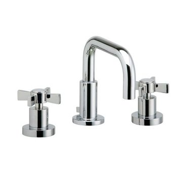 Phylrich D139/050 Basic Satin White Widespread Bathroom Faucet