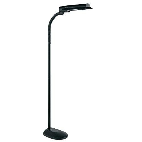 Ottlite T81g5t Shpr 18 Watt Wing Shade Floor Lamp Black