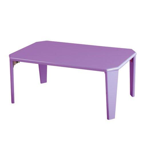 鏡面テーブル 折りたたみ式 カラーテーブル ロータイプ シンプル センターテーブル 木製 Sサイズ E