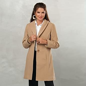 Click to buy TravelSmith Women's Shawl Collar Button-Up Fleece Coatfrom Amazon!