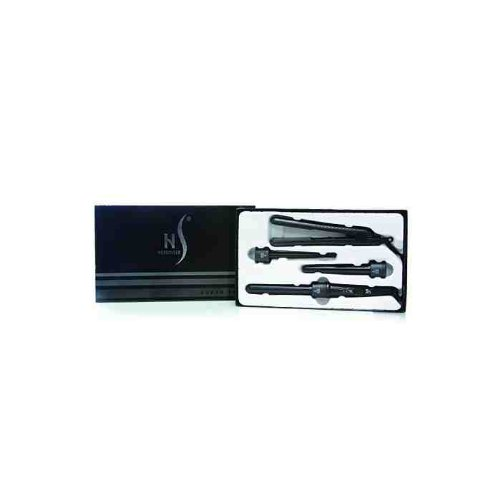 HerStyler professional Curler features 3 different sized interchangeable barrels + hair straightener