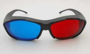 3D vision Ultimate Anaglyph 3D Glasses - Made To Fit Over Prescription Glasses