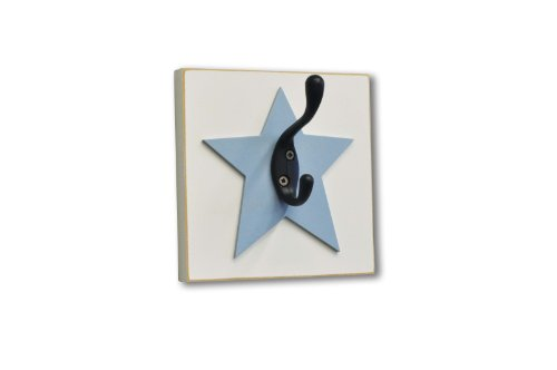 Homeworks Etc Star Single Wall Hook, Blue front-311497