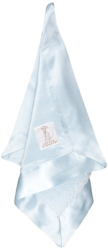 Little Giraffe Chenille Satin Blanky, Blue