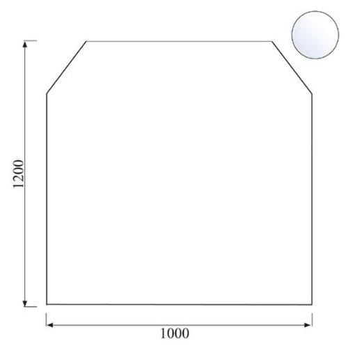 Kamino-Trend 555210 Glasbodenplatte 6-eckig