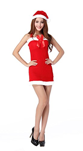 TomYork Unique Exclusive Butterfly Knot Christmas Red Uniforms