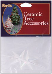 Clear Ceramic Christmas Tree Star Topper