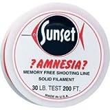 Amnesia Leader Butt Materials Shooting Line Flourescent Red 15 lb (.015)