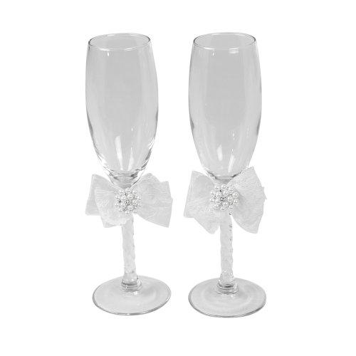 Ivy Lane Design presents Jamie Lynn Delilah Pair of Glass Wedding Toasting Flutes topco jamie lynn реалистичная кукла с двумя отверстиями