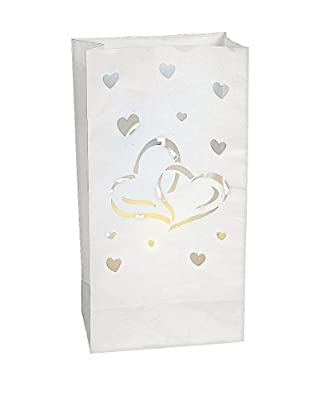 Luminary Bags Paper Two Hearts /Weddings/Bridal Showers/Party Supplies
