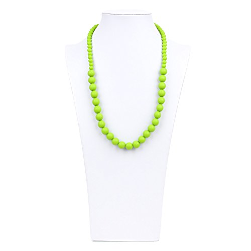Bumkins Nixi Ciclo Silicone Teething Necklace, Green - 1