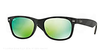 Ray-Ban New Wayfarer Sunglasses RB2132 617771 Black Grey Gradient Dark Grey 55 18 145