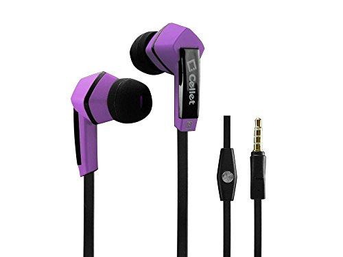 Htc Thunderbolt Stereo Inside The Ear Headphones Built In Hands Free Microphone And Dynamic Driver Purple With Square Shape
