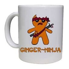 Gingerbread Ninja - Funny Tea / Coffee - Novelty Coffee Mug / Cup. Gift Idea.