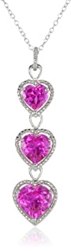 Sterling Silver, Created Gemstone, an…
