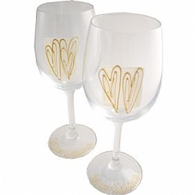 50th Wedding Anniversary Golden Wedding Wine Glasses