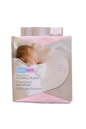 Just Born Simply Secure Swaddling Blanket - Pink front-942237