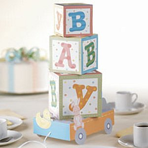 Cute Building Blocks Baby Shower Centerpiece - 1