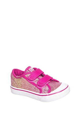 Toddler's Glittery Hook And Loop Sneaker