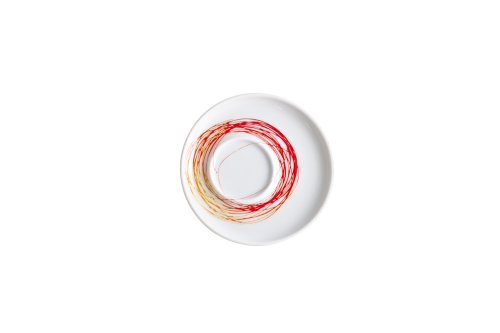 Kahla Five Senses Saucer 4-1/4 Inches, Whirl Red Yellow Color, 1 Piece