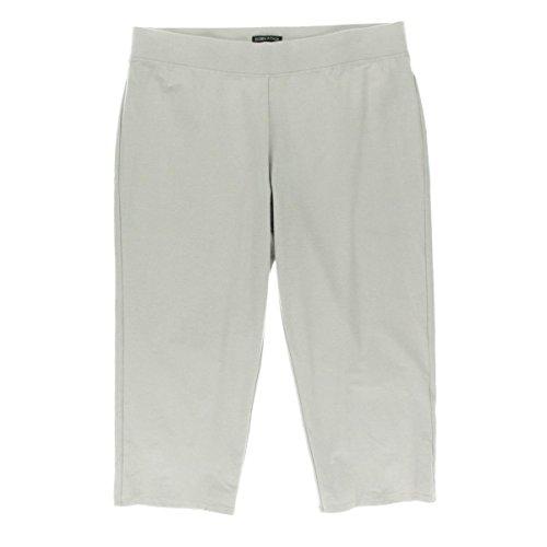 Eileen Fisher Womens Crepe Slim Leg Capri Pants Gray S