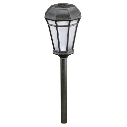 malibu outdoor one light solar powered walk light pewter