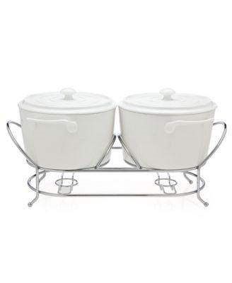 Godinger Serveware, Cucina Double Warmer 3 Qt
