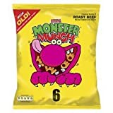 Walkers Monster Munch Roast Beef Snacks 6 X 25G