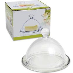 Butter Dish Glass Round with Glass Cover (Cheese Dish Glass compare prices)