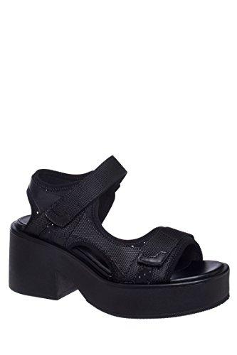 Emma Chunky Velcro Mid Heel Sandal
