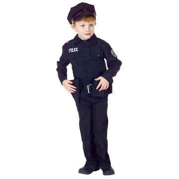[Underwraps Kids Policeman Set Costume (Medium (6-8))] (Policeman Boys Costume)