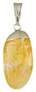 Tumbled Citrine Pendant Charm Wicca Wiccan Pagan Metaphysical Spiritual Amulet Women's Men's Jewelry