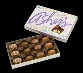 Asher's Petite Easter Eggs Assortment Milk Chocolate Gift Box (8 Oz) (Gourmet,Asher's Chocolates,Gourmet Food,Gourmet Gifts,Candy & Chocolate)