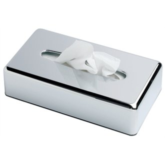 Chrome Rectangular Tissue Holder - Suitable for Hotel & Guest Houses!