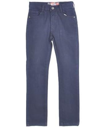 "Chams Big Boys' ""Phaze"" Straight Fit Jeans - dark navy, 8"
