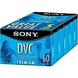 Sony DVC-60 PRR/5 Premium Minidv Videocassette (5-Pack)