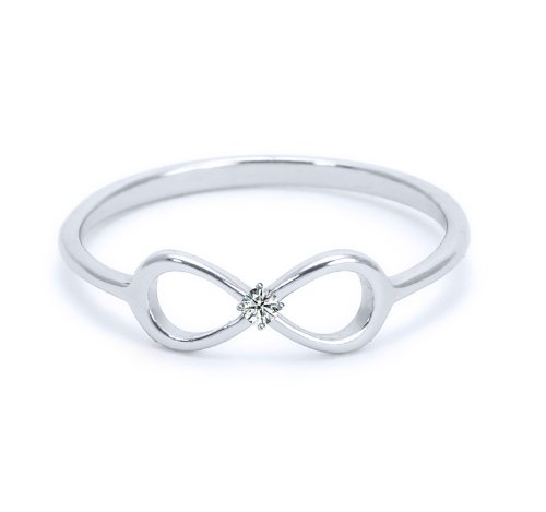 Heavy Casted 925 Sterling Silver Infinity Ring-Centered