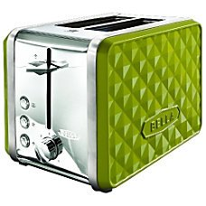 Bella Diamonds 2 Slice Toaster Lime Green