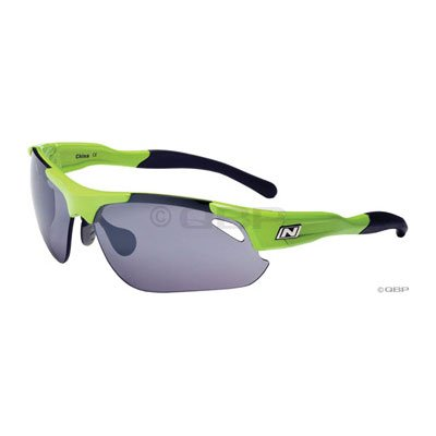 Optic Nerve Neuro Toxin Interchangeable Sunglass (4 Lens Sets, Shiny Green)
