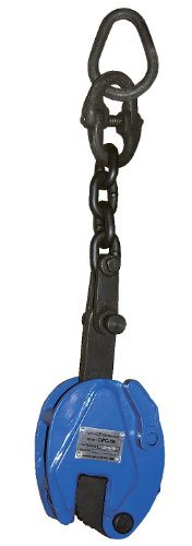 Vestil CPC-20 Heavy Duty Steel Vertical Plate Clamps with Chain, 0.8