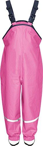Playshoes - Pantaloni impermeabili, Bimbi, Rosso (Pink (Pink)), 104 cm