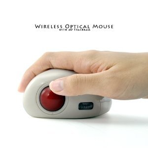 Wireless Optical Mouse with 4d Trackball