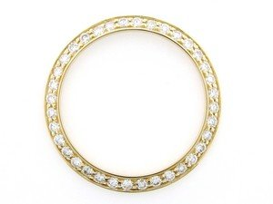 Midsize 2ct Bead Set Diamond Bezel 14ky for Rolex Dj