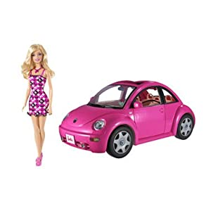 Barbie Volkswagen New Beetle & Doll Set